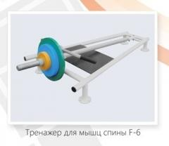 The exercise machine for muscles of a back F – 6