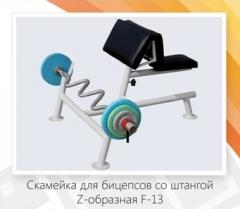 Bench for bicepses with Z-shaped (Skamya Larry of