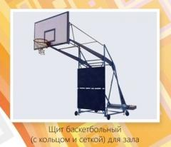 Rack basketball (with a board, a ring and a grid)