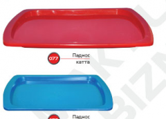 Trays color of plastic