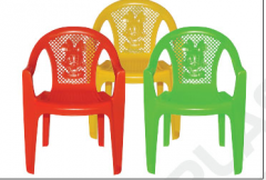 Chairs are plastic color