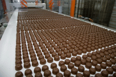 The equipment for production chocolate of a wafer