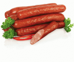 Sausages half-smoked