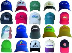 Caps, man's, female with logos under the