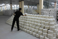 Yarn for knitted production