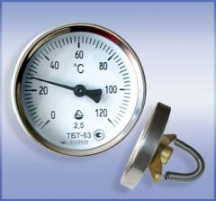 Thermometers bimetallic pipe TBT