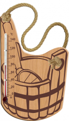 Sauna thermometer and saunas Bucket of the