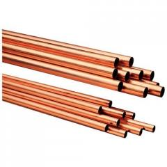 Copper pipes of various diameters