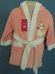 Children's bathing dressing gowns