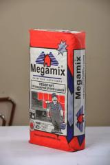 Glue facing for furnaces and fireplaces of Megamix
