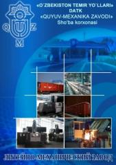 Production of spare parts and knots to freight