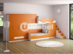 Children's and teenage furniture of ORANGE.