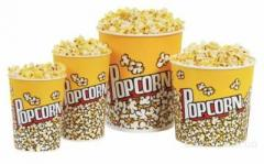 Paper cups for popcorn of 200 ml