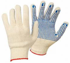 Gloves knitted workers