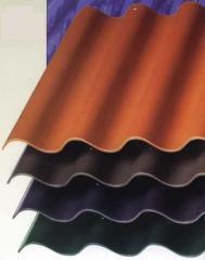 Asbestos cement sheets wavy