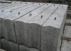 Base blocks concrete FBS type