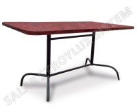Table 1400х800 p-shaped table-top of plasticity