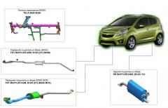 Exhaust systems of Chevrolet Spark cars
