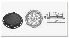Las tapas de las escotillas de hierro fundid