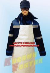 Apron worker polyvinyl chloride