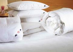 Pillows are wadded