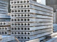 Reinforced concrete plates kruglopustotny from the