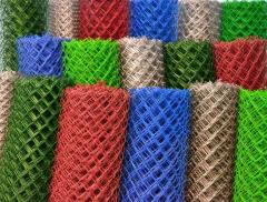 Grid chain-link colored