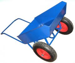 The wheelbarrow is garden, the cart economic
