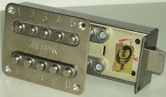 Code lock latch