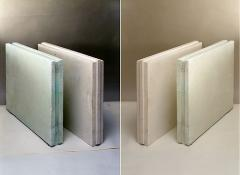 Plates tongue-and-groove plaster 667х500х80 mm.