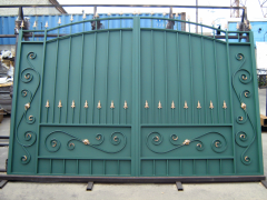 Metal gate for the house