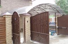 Ворота металлические с калиткой