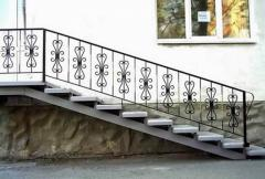Handrail ladder metal