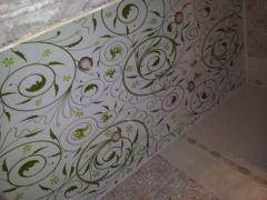 Натяжной потолок абстракция, роспись