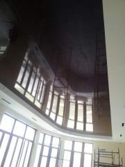 Натяжной потолок Фигурный, чёрный для бассейна