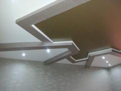 Натяжной потолок фигурный, золотой от Decor Studio