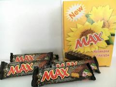 Шоколадные батончики Max с кунжутом