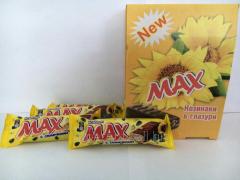 Шоколадные батончики Max с семечками