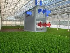 Systems of heating for industrial greenhouses.