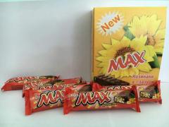 Шоколадные батончики Max с арахисом