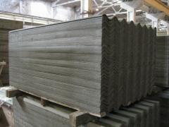 Asbestos-cement wavy leaf (slate wave)