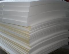 Polyurethane foam. Foam rubber