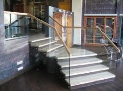 Glass for a handrail