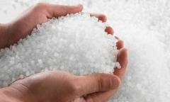 The polyethylene granulated