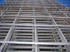 The grid is welded reinforcing