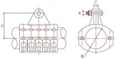 Подвеска для шины выполненной в виде трубы(типа