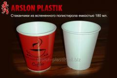 Disposable glass of 180 ml