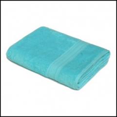 Monophonic turquoise towel 70х140 400g/sq.m