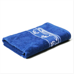 Jacquard-woven loop towels of 100% cotton