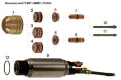 HYPERTHERM® HT400® plasmatron, are compatible to the HT400® power supply